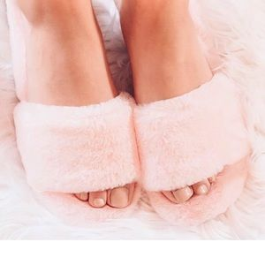 Barbie Pink Fluffy Fabulous Slide Sandals